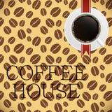 Illustration de vecteur de descripteur de carte de café Photographie stock
