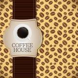 Illustration de vecteur de descripteur de carte de café Photographie stock libre de droits