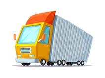 Illustration de vecteur de dessin animé Conception de l'avant-projet de camion de livraison Camion pour le transport des marchand Photo libre de droits