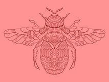 illustration de vecteur de dessin de couleur de Humble-abeille Images stock