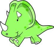 Illustration de vecteur de dinosaur de Triceratops Image stock
