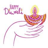 Illustration de vecteur de Diwali Festival des lumières indien Photos libres de droits