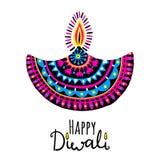 Illustration de vecteur de Diwali Festival des lumières indien Photographie stock