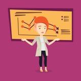Illustration de vecteur de femme d'affaires de Bancruptcy illustration libre de droits
