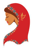 Illustration de vecteur de femme indienne Image libre de droits