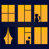 Illustration de vecteur de fenêtre de nuit illustration de vecteur