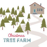 Illustration de vecteur de ferme d'arbre de Noël Photo stock