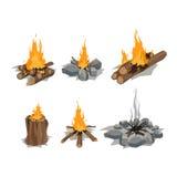 Illustration de vecteur de feux illustration libre de droits