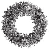 Illustration de vecteur de fleur de vintage Images libres de droits