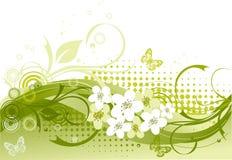 Illustration de vecteur de floral vert Image libre de droits