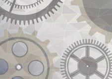 Illustration de vecteur de fond d'abrégé sur roue de vitesse Bannière transparente avec des rouages Conception de Poligonal EPS10 illustration libre de droits