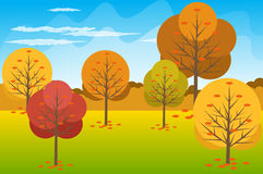 Illustration de vecteur de fond d'Autumn Landscape Images libres de droits