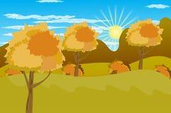 Illustration de vecteur de fond d'Autumn Landscape Photos libres de droits