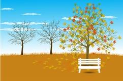 Illustration de vecteur de fond d'Autumn Landscape Photographie stock