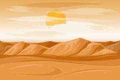 Illustration de vecteur de fond de grès de montagnes de désert Photos libres de droits