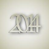 Illustration de vecteur de fond de la nouvelle année 2014 Photos stock