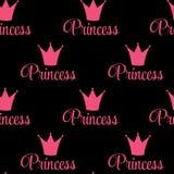 Illustration de vecteur de fond de princesse Crown Seamless Pattern. Photos stock