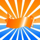 Illustration de vecteur de fond de soleil avec du Th Photos libres de droits