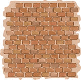 Illustration de vecteur de fond de texture de mur en pierre de brique Images libres de droits