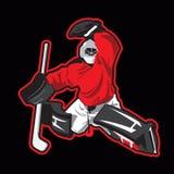 Illustration de vecteur de gardien de but de hockey sur glace Photographie stock libre de droits