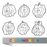 Illustration de vecteur de Halloween - livre de coloriage Photo stock