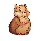 Illustration de vecteur de hamster dans le style de bande dessinée illustration stock