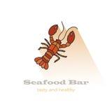 Illustration de vecteur de homard Icône de couleur Image stock