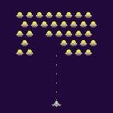 Illustration de vecteur de jeu électronique d'ufos de vieille école Image libre de droits