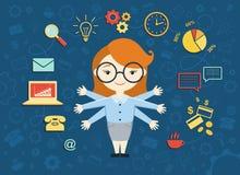 Illustration de vecteur de jeune femme d'affaires Image stock