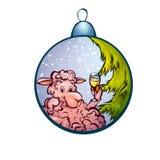 Illustration de vecteur de jouet de fourrure-arbre avec drôle Images libres de droits
