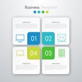 Illustration de vecteur de l'infographics quatre carré illustration stock