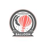 Illustration de vecteur de label d'isolement par logo de ballon Symbole de fédération de ballon Logo de club de vol Photographie stock libre de droits