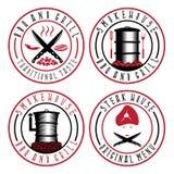 Illustration de vecteur de label de BBQ, de grill et de fumoir illustration de vecteur