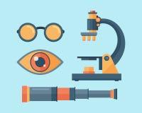 Illustration de vecteur de lentille de télescope de regard Images stock