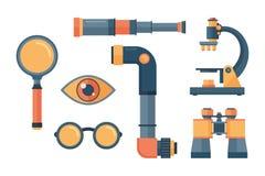 Illustration de vecteur de lentille de télescope de regard Photos libres de droits