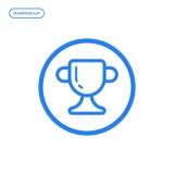 Illustration de vecteur de ligne plate icône Concept de construction graphique de tasse de récompense Photos libres de droits