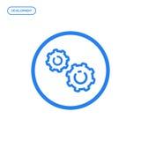 Illustration de vecteur de ligne plate icône Concept de construction graphique du développement Images libres de droits