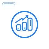 Illustration de vecteur de ligne plate icône de diagramme Concept de construction graphique de succès de démarrage Photo stock