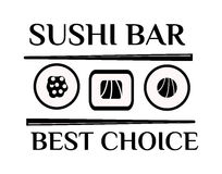 Illustration de vecteur de logo de sushi Photo stock