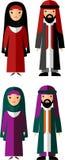 Illustration de vecteur de mâle et de femelle arabes Image stock