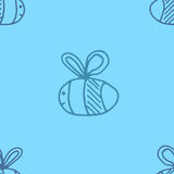 Illustration de vecteur de modèle d'abeille Image stock