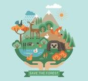 Illustration de vecteur de nature de protection Photographie stock libre de droits