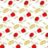 Illustration de vecteur de pâtes Photographie stock libre de droits