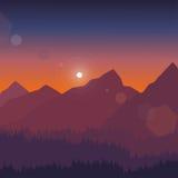 Illustration de vecteur de paysage de montagne Images libres de droits