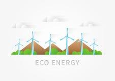 Illustration de vecteur de paysage de turbine à air Photos stock