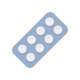Illustration de vecteur de pilules dans la conception plate de style Photos stock