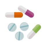 Illustration de vecteur de pilules dans la conception plate de style Photos libres de droits