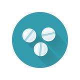 Illustration de vecteur de pilules dans la conception plate de style Photographie stock libre de droits