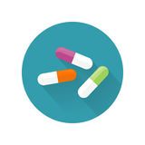 Illustration de vecteur de pilules dans la conception plate de style Photographie stock