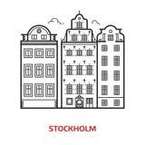 Illustration de vecteur de point de repère de Stockholm Image stock